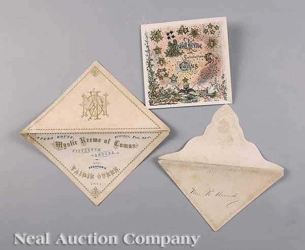 0589: Mistick Krewe of Comus Ball Invitation, 1871