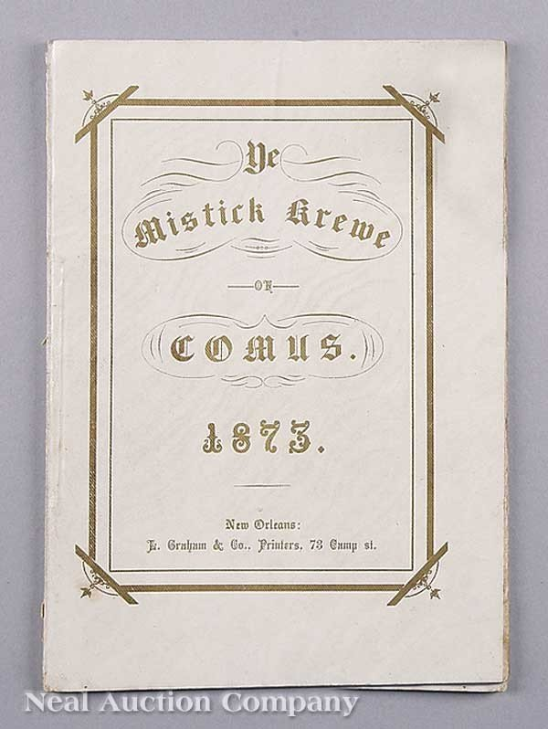 0592: Mistick Krewe of Comus Ball Tableau Programme 187