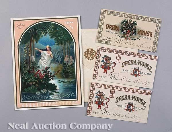 0594: Mistick Krewe of Comus Ball Invitation, 1880