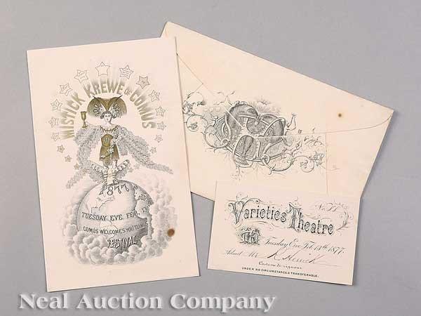 0596: Mistick Krewe of Comus Ball Invitation, 1877