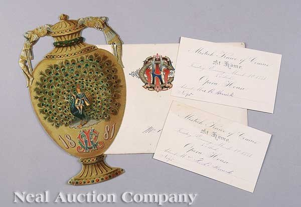 0597: Mistick Krewe of Comus Ball Invitation, 1881