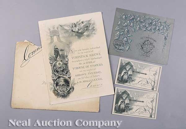 0598: Mistick Krewe of Comus Ball Invitation, 1882