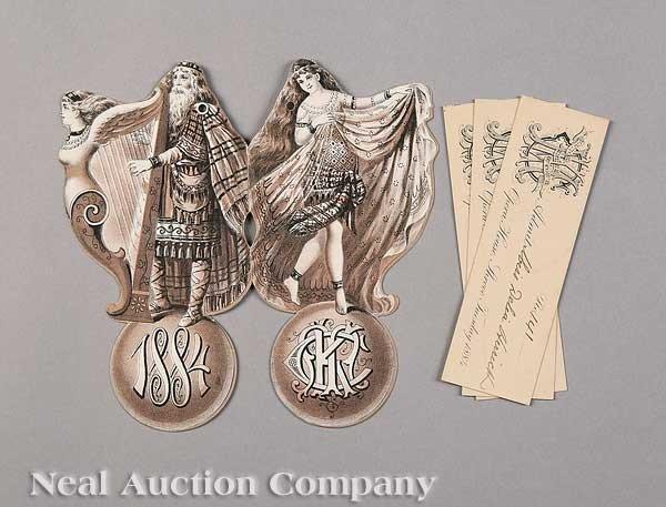 0599: Mistick Krewe of Comus Ball Invitation, 1884