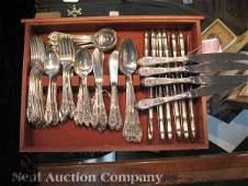 "0676: Tiffany ""Faneuil"" Sterling Silver Flatware"