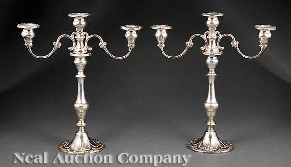 0282: Gorham Sterling Silver Three-Light Candelabra