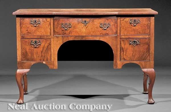 0625: Burl Walnut Veneered Lady's Dressing Table