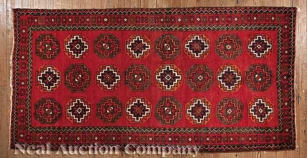 0631: Antique Persian Turkeman Carpet