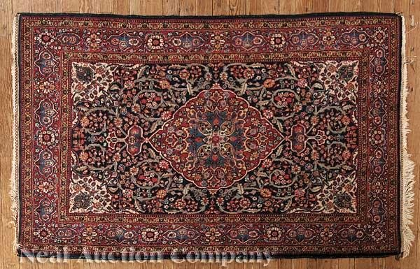 0634: Small Antique Persian Rug
