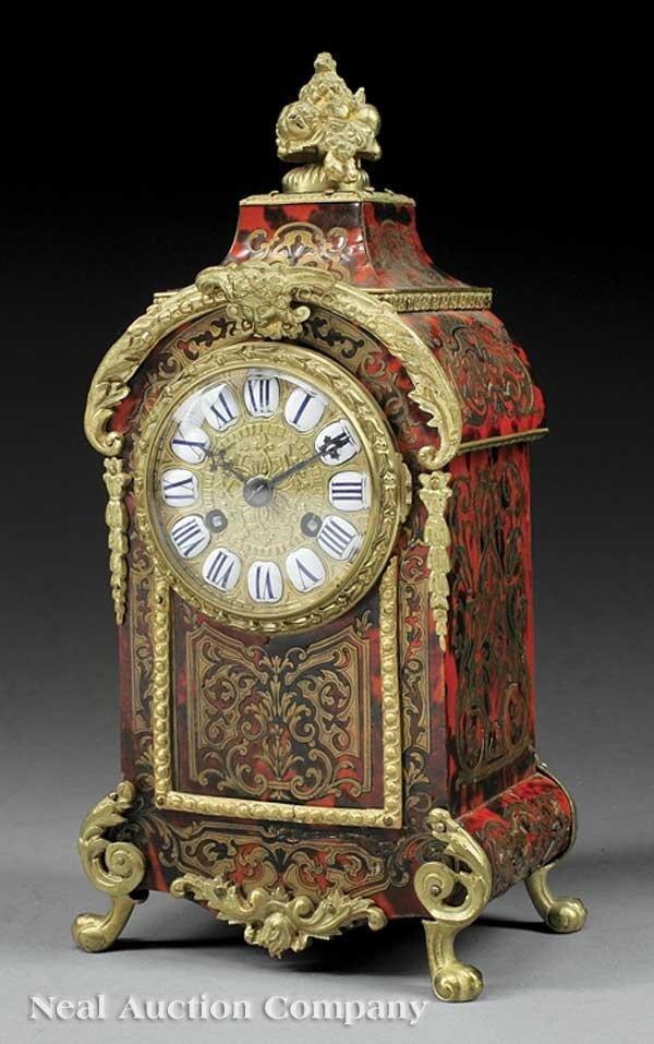 0640: Boullework and Gilt Bronze-Mounted Clock