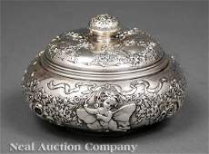 0658 Gorham Sterling Silver Repousse Dresser Box