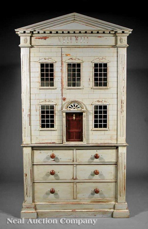 0007: Paint-Decorated Cupboard, form of London Townhous