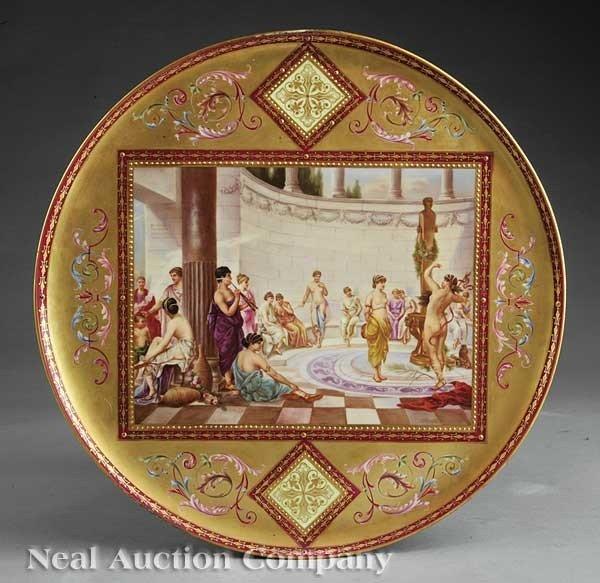 0022: Royal Vienna Polychrome & Gilt Porcelain Charger