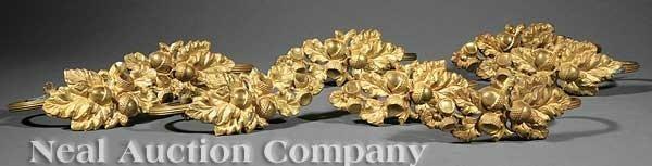 0023: Eight American Pressed Brass Curtain Tiebacks