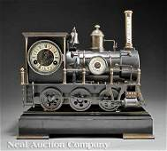1052 A Bronze Industrial Train Clock