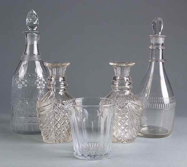 0008: Group of Anglo-American Glass Items