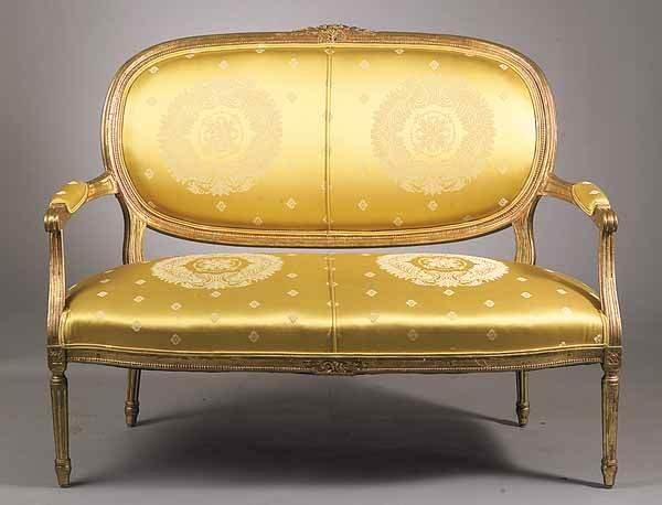0020: Louis XVI-Style Giltwood Parlour Suite