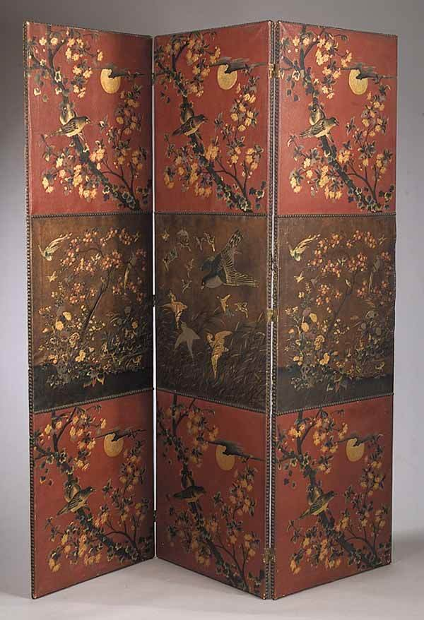 0021: French Paint-Decorated 3-Panel Screen