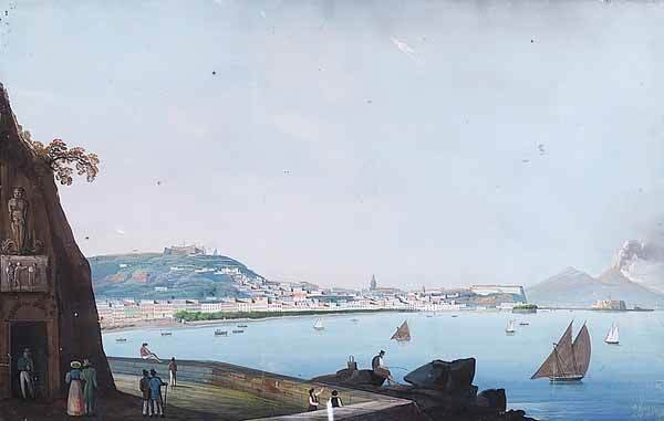 "0053: Neapolitan, mid-19th c, ""View Naples..."""
