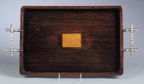 0262: Antique Chinese Carved Hardwood Tray