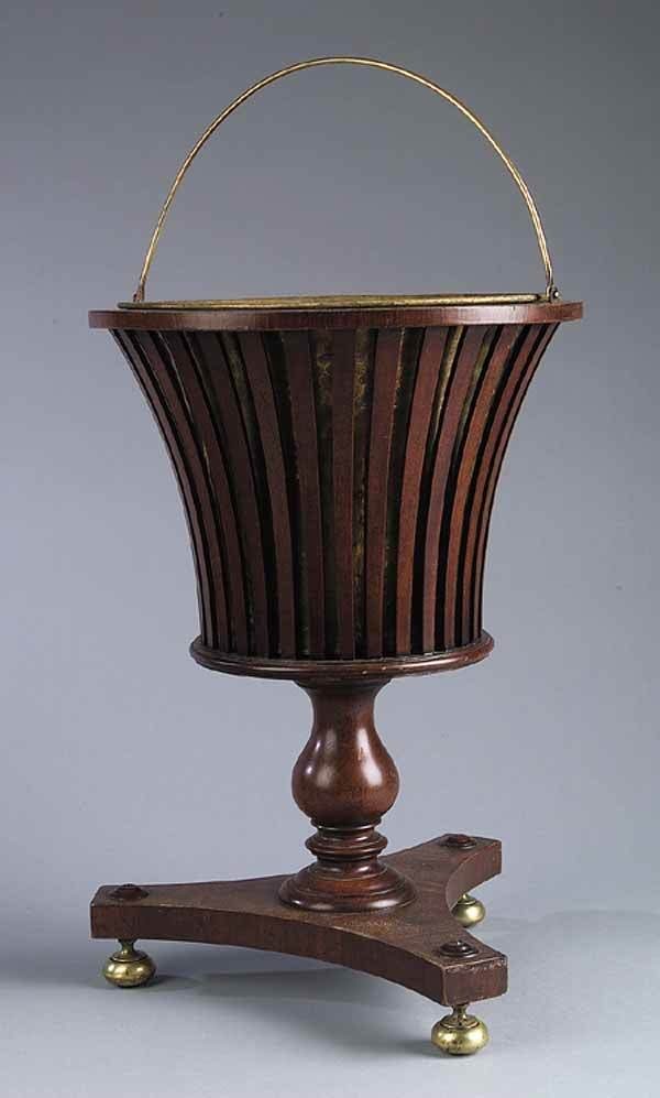 0263: George III-Style Mahogany Peat Bucket