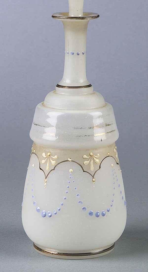 0275: A Bristol Glass Stoppered Scent Bottle