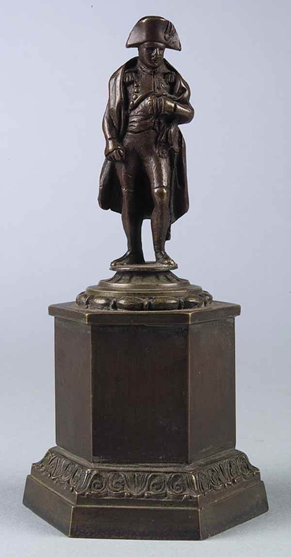 0277: Small French Patinated Bronze Napoleon