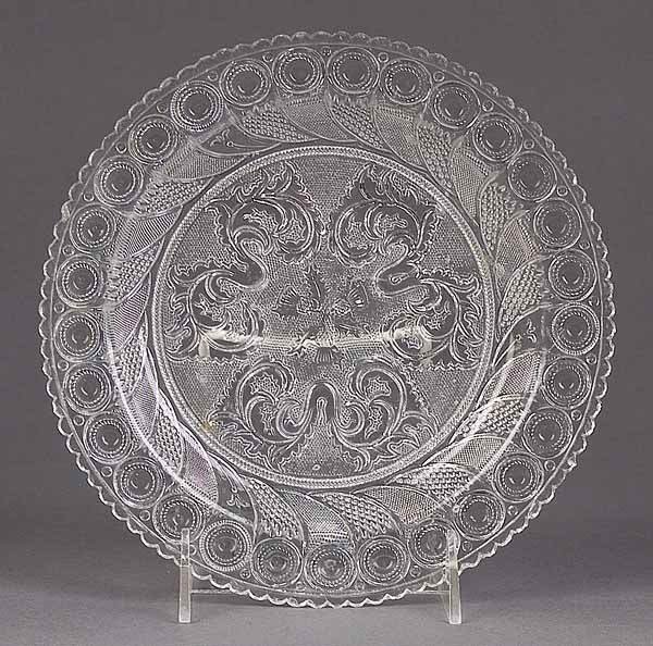 0902: Two American Pressed Glass Plates