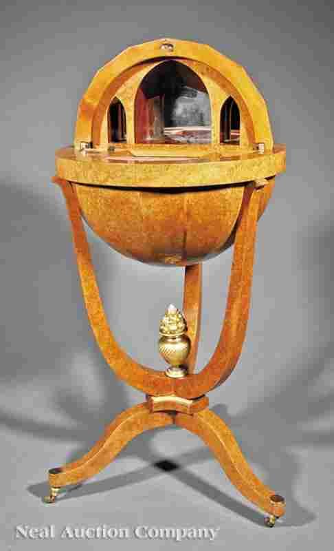 Rosewood, Satinwood Globustisch Work Table