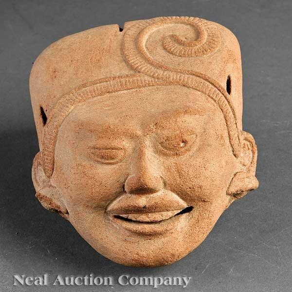 "0693: Pre-Columbian Pottery ""Sonriente"" Head"