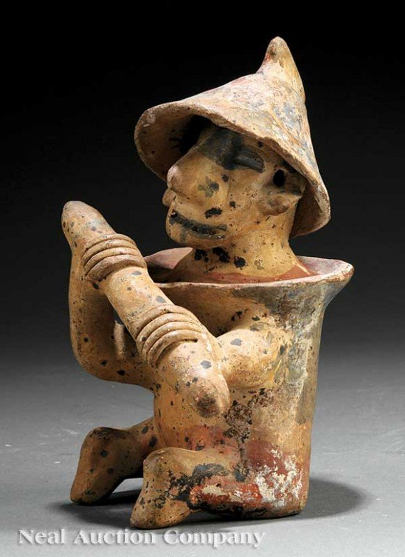 0694: Pre-Columbian Pottery Guardian Figure