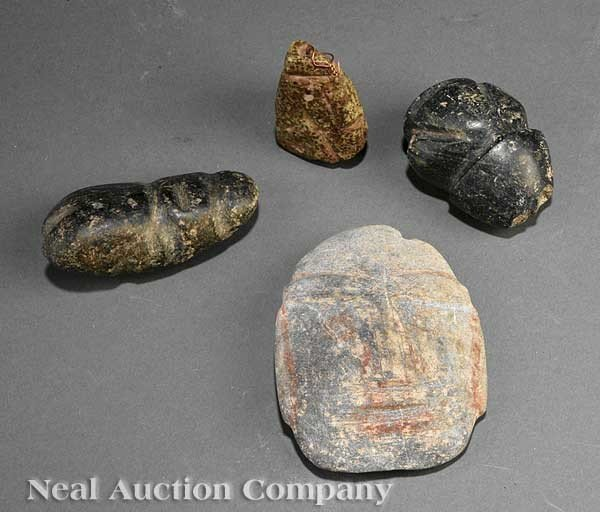 0702: Four Pre-Columbian Stone Figural Carvings