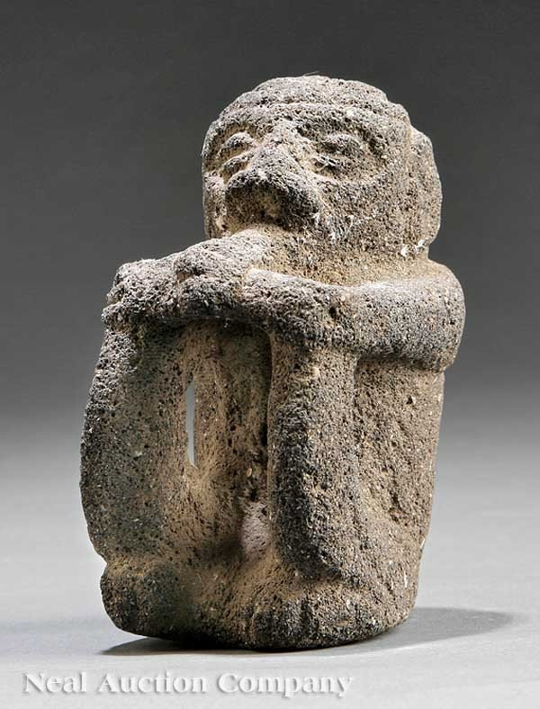 "0708: Pre-Columbian Carved Stone ""Sukia"" Figure"