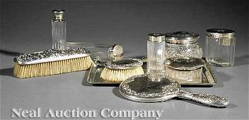 1031 Sterling SilverMounted Dressing Table Articles