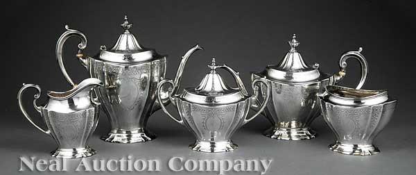 1269: Reed & Barton Sterling Silver Coffee/Tea Service