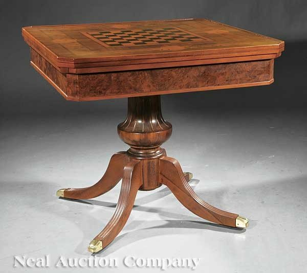 0005: George III-Style Inlaid Mahogany Games Table