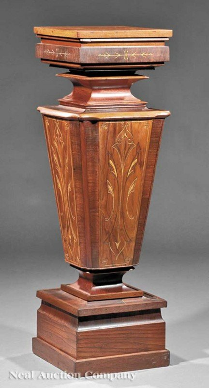 0008: Continental Gilt-Incised Rosewood Pedestal