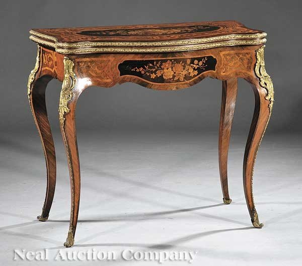 0009: Marquetry and Gilt Bronze-Mounted Games Table