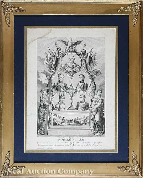 "0015: French Engraving of ""Famille Royale"""