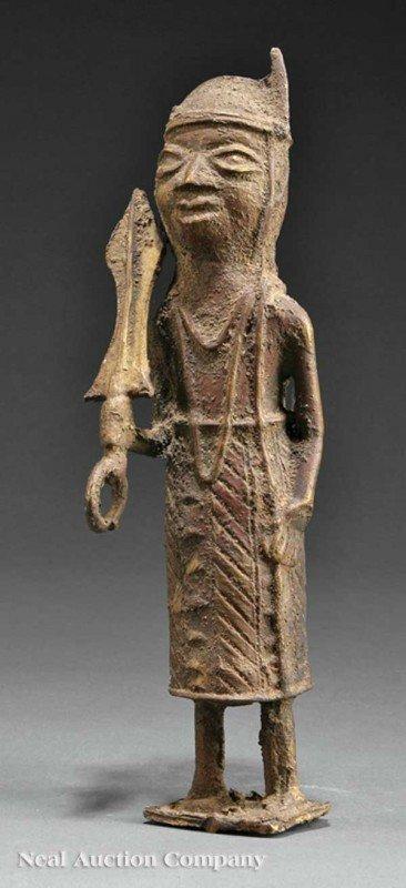 0673: Nigerian Yoruba Bronze Ogboni  Male Warrior