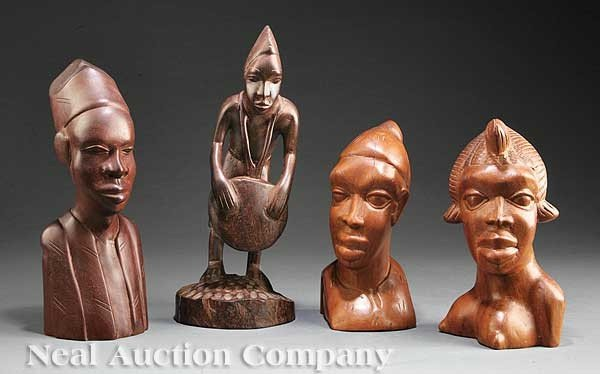 0678: Four African Carved Wood Figures, Sierra Leone