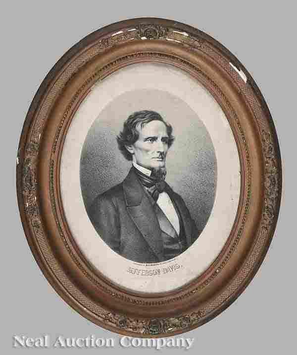 0935: lithograph of Jefferson Davis, pub. Blelock & Co.
