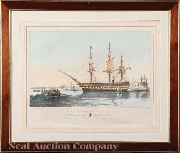 0006: English Colored Lithographs of Ships
