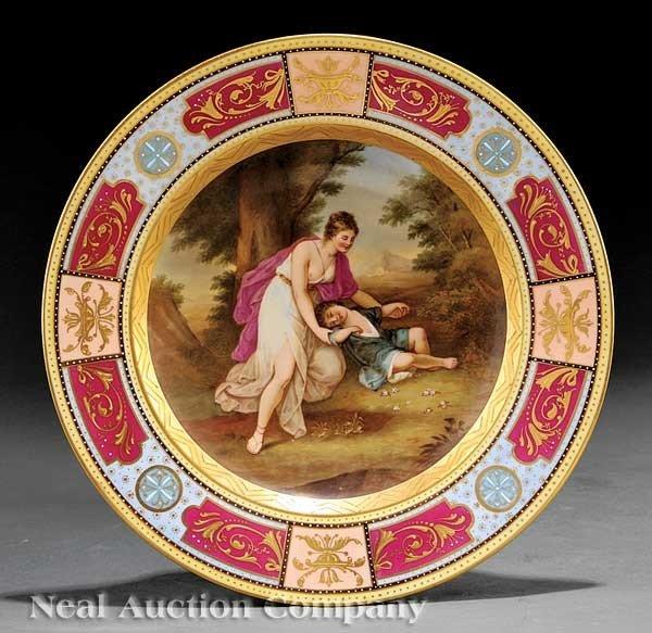 0009: Vienna Porcelain Polychrome Cabinet Plate