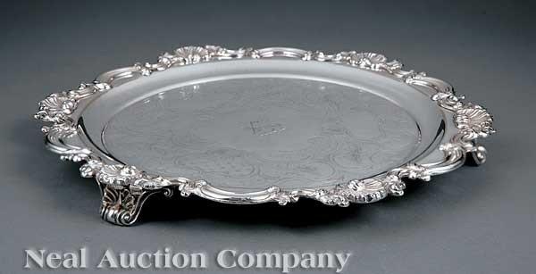 0011: English Silverplate Salver
