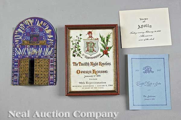 0641: Mardi Gras; four ball invitations
