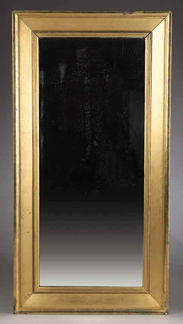 0016: American New York Classical Giltwood Pier Mirror