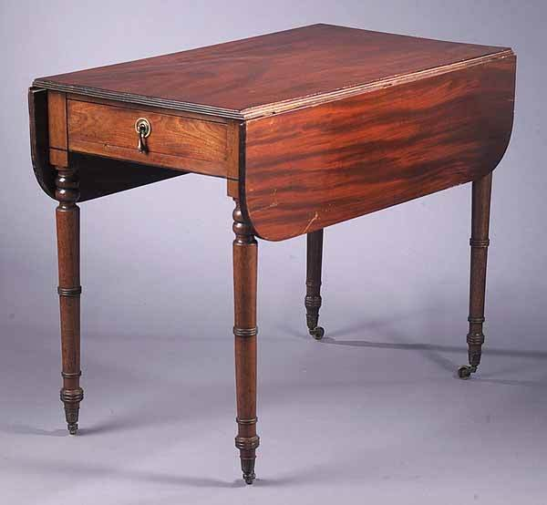 0017: George IV Mahogany Pembroke Table, c. 1820