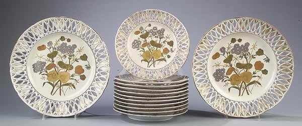0022: Aesthetic Movement Porcelain Partial Dessert Set