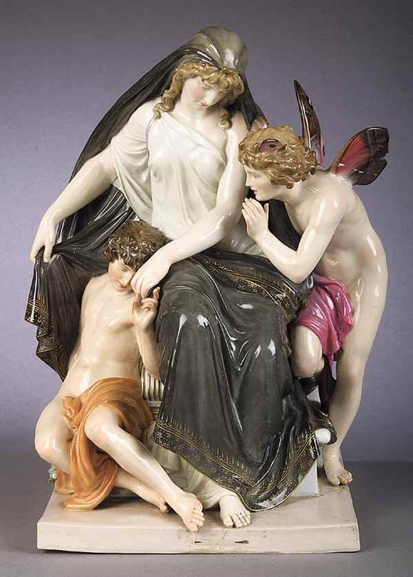 0024: Meissen Polychromed Porcelain Figural Group