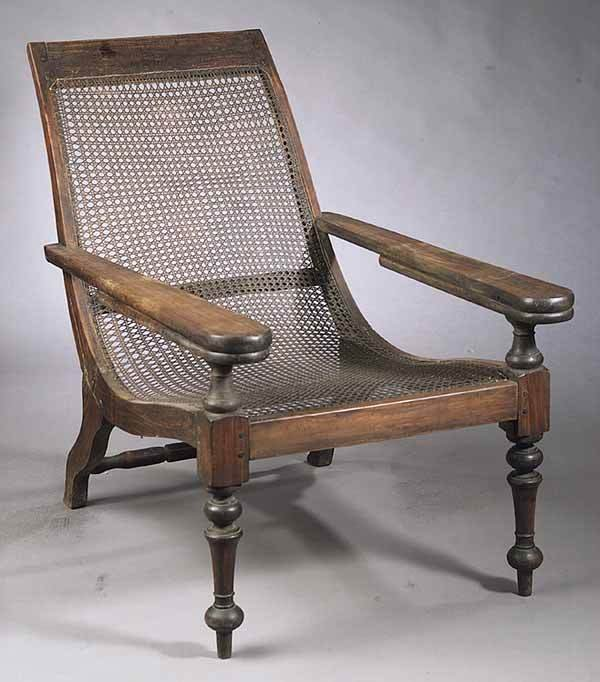 0408: West Indies Mahogany and Caned Planter's Chair